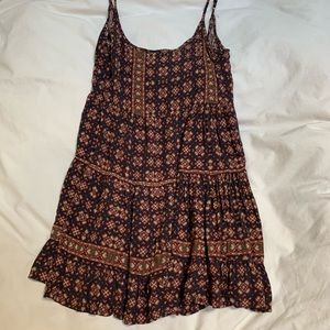 Brandy Melville Maroon & Navy Jada Dress